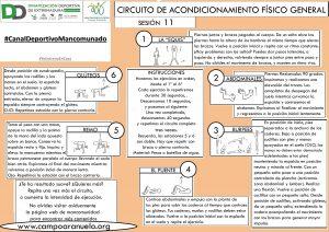 CIRCUITO DE ACONDICIONAMIENTO FÍSICO GENERAL Sesión 11