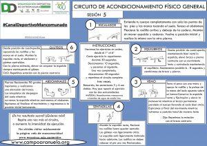 CIRCUITO DE ACONDICIONAMIENTO FÍSICO GENERAL Sesión 5