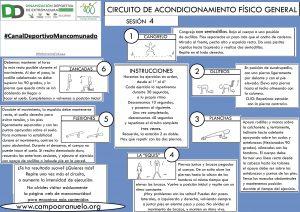CIRCUITO DE ACONDICIONAMIENTO FÍSICO GENERAL Sesión 4