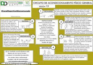 CIRCUITO DE ACONDICIONAMIENTO FÍSICO GENERAL Sesión 15