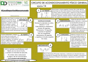 CIRCUITO DE ACONDICIONAMIENTO FÍSICO GENERAL Sesión 16