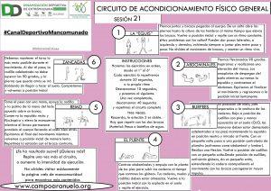 CIRCUITO DE ACONDICIONAMIENTO FÍSICO GENERAL Sesión 21